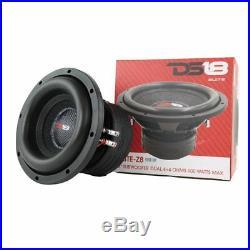 8 Car Sub woofer DS18 ELITE Z8 900W 8 inch Dual 4ohm 8in Bass Sub (1 Speaker)