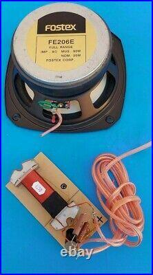 90 Watt Broadband 8 inch FOSTEX FE206E Full Range 8 Ohm Speaker