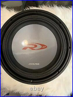 ALPINE SWR-1242D 12 Inch Subwoofer Dual 4 Ohm Voice Coils ONLY USED 6 MONTHS