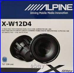 ALPINE X-W12D4 12inch 4-Ohm High Performance Dual Voice Coil Subwoofer 900W RMS