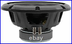 Alpine BBX-T600 Amp and W10S4 10 Inch Single 4 Ohm Subwoofer Includes wire kit