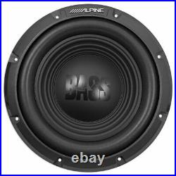 Alpine BBX-T600 Amp and W12S4 12 Inch Single 4 Ohm Subwoofer Includes wire kit