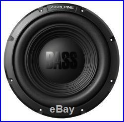 Alpine BassLine Series 10 Inch 750 Watt 4-Ohm Car Audio Subwoofer, Pair W10S4