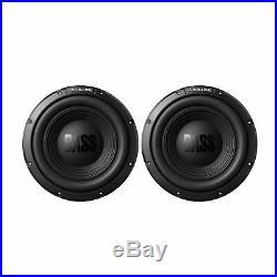 Pair Alpine BassLine Series 12 Inch 750 Watt 4-Ohm Car Audio Subwoofer W12S4