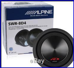 Alpine SWR-8D4 8 Inch 1000 Watt Dual 4 Ohm Type-R Car Subwoofer Sub SWR8D4