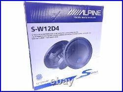 Alpine S-W12D4 S-Series 12 Inch 1800 Watt Max 4 Ohm Car Audio Subwoofer