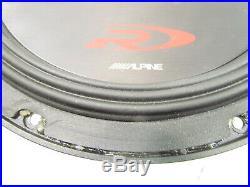 Alpine Swr-t10 10-Inch 1800 Watt 4 Ohm Shallow Mount Subwoofer