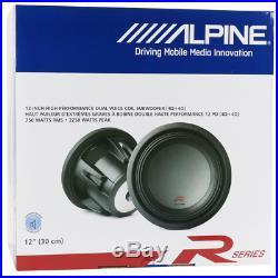 Alpine Type R 12 Inch 2250 Watt Max 4 Ohm Round Car Audio Subwoofer R-W12D4