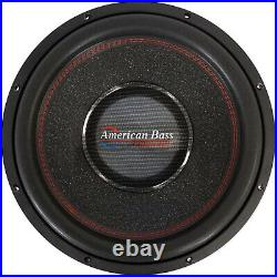 American Bass HAWK 15 Inch Dual 4 Ohm Voice Coil 3000 Watt Subwoofer Speaker