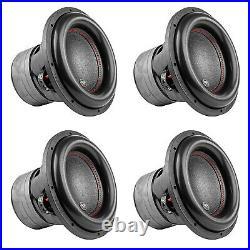 AudioPipe TXX-BDC4-12 Dual 4 Ohm 12 inch 2,200 W Car Subwoofer, Black (4 Pack)