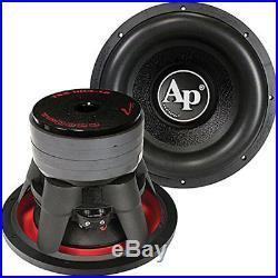 Audiopipe 12 Inch 2200 Watt Dual 4 Ohm Car Audio High Power Car Audio Subwoofer
