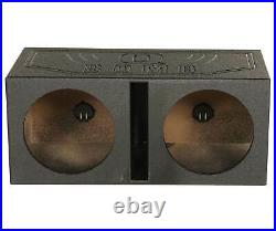 Audiopipe TXX-BD3-12 12 Inch 1800W 4 Ohm Car Audio Subwoofer (2 Pack) & Sub Box