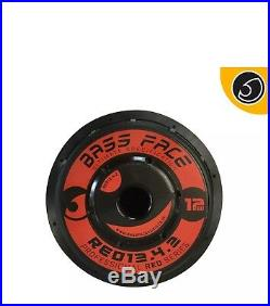 Bassface RED12.4 12 Inch 30cm 2x2Ohm DVC Pro SPL SQ Series Subwoofer 2500w RMS