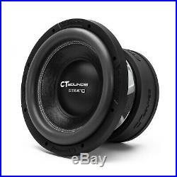CT Sounds Car 10 Inch Subwoofer Strato 10 Dual 1 Ohm D1 Audio 1200w RMS Sub