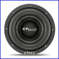 CT Sounds Car 8 Inch Subwoofer Strato 8 Dual 4 Ohm D4 600w Watt RMS Audio Sub
