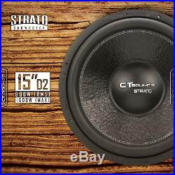 CT Sounds Strato 15 D2 800 Watt RMS 15 Inch Dual 2 Ohm Car Subwoofer Audio Sub