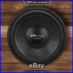 CT Sounds Tropo 12 Inch 600 Watts RMS Dual 4 Ohm Sub Car Audio D4 Subwoofer