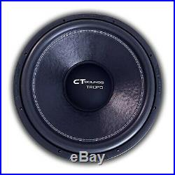 CT Sounds Tropo 18 Inch Car Audio Subwoofer 600w RMS Dual 4 Ohm 18 Inch D4 Ohm