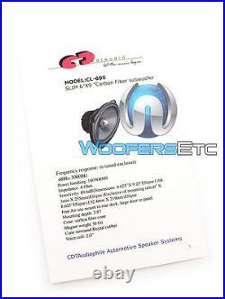 Cdt Audio Cl-69s. 2 Slim 6x9 180w Rms 2-ohm Carbon Fiber Subwoofers Speakers