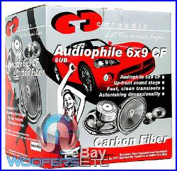 Cdt Audio Hd-690cf. 2 6 X 9 120w Rms 2-ohm Carbon Fiber Subwoofers Speakers New
