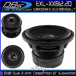DS18 EXL-XXB12.2D 12 Car Subwoofer 4000W Max Dual 2ohm 12 inch Competition Sub