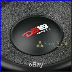 DS18 GEN-X154D 15 Inch Car Subwoofer 1000W Max Dual 4 Ohm Bass Speaker Sub