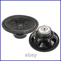 DS18 SLC-MD12.4D 12 Inch Subwoofers 1000 Watts Max Power Dual 4 Ohm Sub 2 Pack