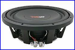 DS18 SW12S4X 12-Inch 1200W 4-Ohm SVC Shallow Mount Subwoofer and Truck Wedge Box