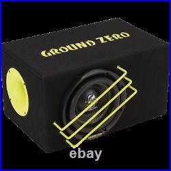 Ground Zero GZRB 20SPL 8 Inch 20cm Dual 2-Ohm SPL Car Subwoofer with Box