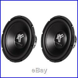 Hifonics HFX12D4 12-Inch 1600 Watt HF Series Dual 4 Ohm Car Subwoofers, Pair of