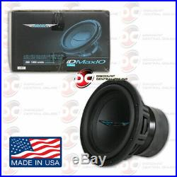 Image Dynamics Idmax V. 4 10 Dual 4-ohm Car Dual Voice Coil Subwoofer 1000w Rms