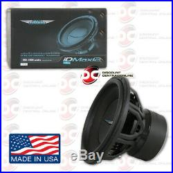 Image Dynamics Idmax V. 4 12 Dual 4-ohm Car Dual Voice Coil Subwoofer 1000w Rms