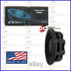 Image Dynamics Idqs10 D4 10 Dual 4 Ohm Car DVC Shallow Mount Subwoofer 200w Rms