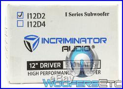 Incriminator Audio I12d2 12 Sub 500w Rms Dual 2 Ohm Subwoofer Bass Speaker New