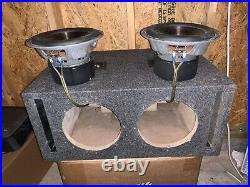 Infinity Reference 860w 4ohm Pair 8 Inch Subwoofers With Ported Box Enclosure