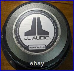 JL Audio 10 inch 4 ohm 500 Watt car audio subwoofer (10w3v3-4)