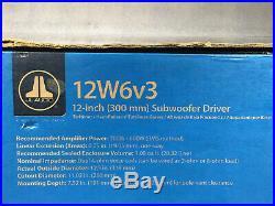 JL Audio 12W6v3-D4 12 inch Car Subwoofer Driver Dual 4 Ohm