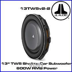 JL Audio 13TW5v2-2 13 Inch 345mm 600 Watts 2 Ohms Car Sub Shallow Subwoofer