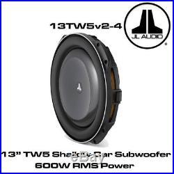 JL Audio 13TW5v2-4 13 Inch 345mm 600 Watts 4 Ohms Car Sub Shallow Subwoofer