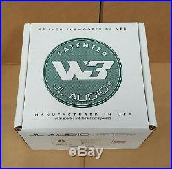 JL Audio 6W3V3-8 (92146) 6.5-inch 8-ohm Subwoofer NEW in OEM PACKAGING