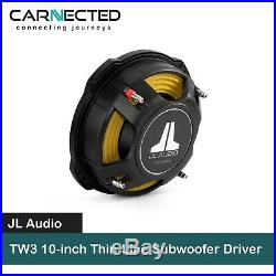 JL Audio TW3 10-inch Thin-Line Subwoofer Driver 400W (Dual 4 ohm)