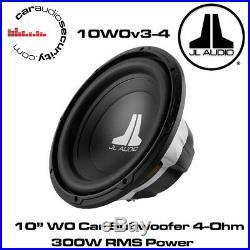 JL Audio W0 10W0v3-4 10 Inch 250mm 300 Watts 4 Ohms Car Sub Subwoofer 10W0