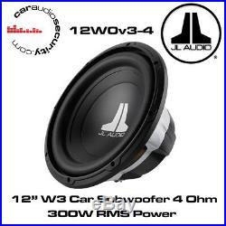 JL Audio W0 12W0v3-4 12 Inch 300mm 300 Watts 4 Ohms Car Sub Subwoofer 12W0
