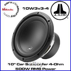 JL Audio W3 10W3v3-4 10 Inch 25cm 500 Watts 4 Ohms Car Sub Subwoofer 10W3