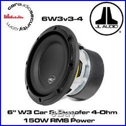 JL Audio W3 6W3v3-4 6 Inch 165mm 150 Watts 4 Ohms Car Sub Subwoofer 6W3