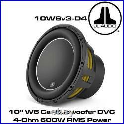 JL Audio W6 10W6v3-D4 10 Inch 25cm 600 Watts Dual 4 Ohms Car Sub Subwoofer 10W6