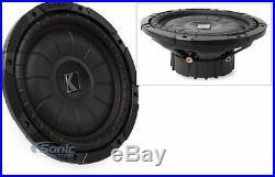 KICKER 43CVT104 800W 10 Inch CompVT Dual 4-Ohm Car Subwoofer Car Audio Sub