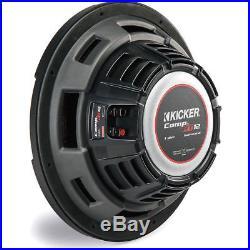 KICKER 43CWRT121 CompRT 12 Inch Dual 1-Ohm 1000W Shallow Car Subwoofer