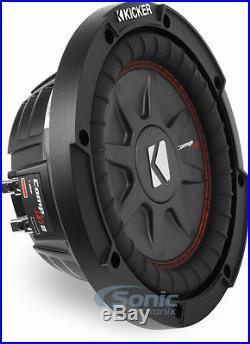 KICKER 43CWRT81 8 Inch 600W CompRT81 Dual 1 Ohm Car Subwoofer