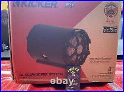 KICKER 45CWTB84 8 inch 4 Ohm Subwoofer Enclosure Tube